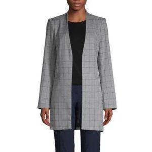 Calvin Klein 3/4 length Blazer Grey Checkered sz14